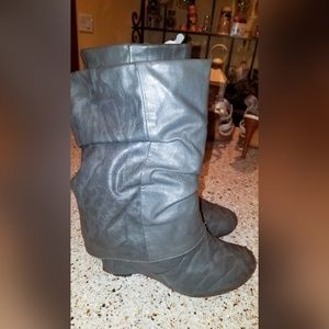 Ankle Cuff Wedge Boots